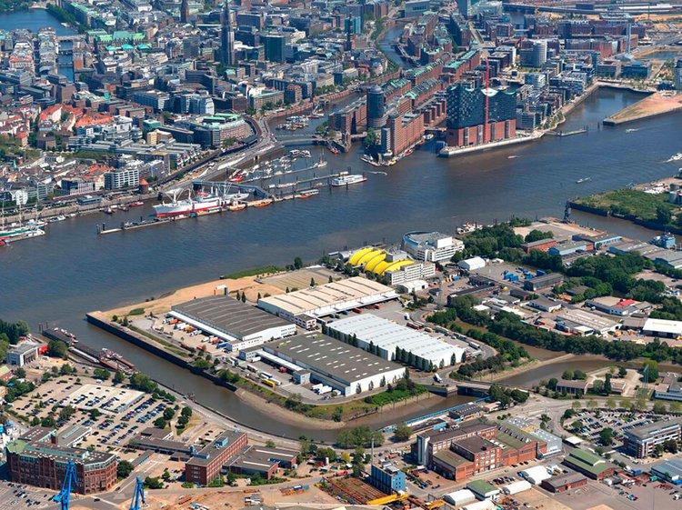 Logistik Lagerhalle von Logistikimmobilienentwickler Prologis im Hamburger Hafen