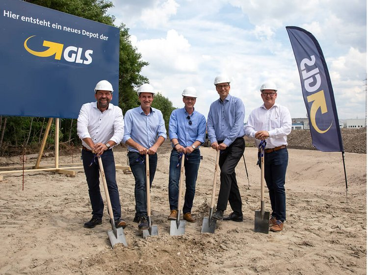 Spatenstich für neues GLS Depot in Essen - Pressearbeit
