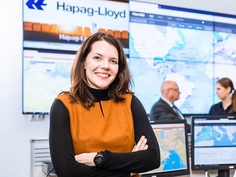 Hapag Lioyd Mitarbeiterin im Interview - interne und externe Kommunikation