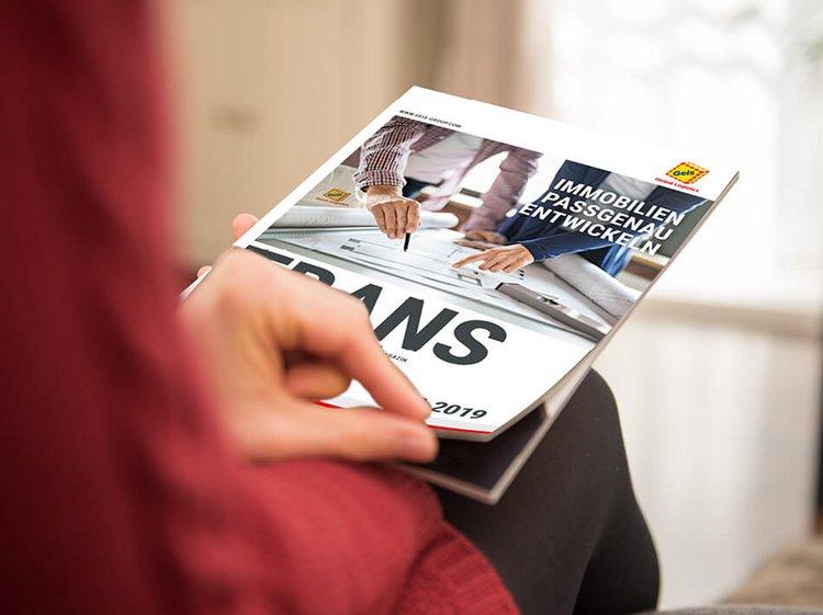 Print-Magazin Transfer der Geis für Kunden und Mitarbeiter