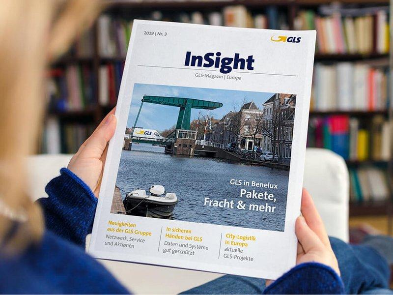 Internationales Print-Magazin InSight für Paketdienstlesiter GLS